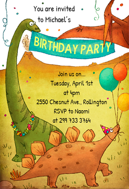 dinosaurs birthday party free printable birthday invitation