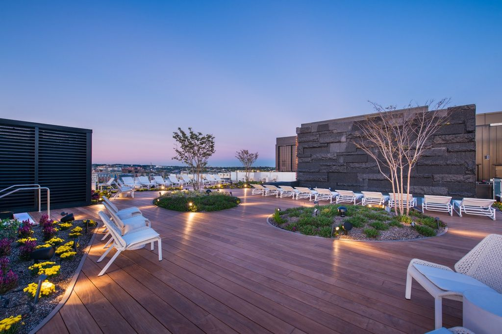 880 P St Nw Dc Apartments Rooftop Lounge Spa Hot Tubs