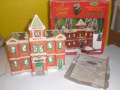 It's A Wonderful Life Christmas Village Bedford Falls High