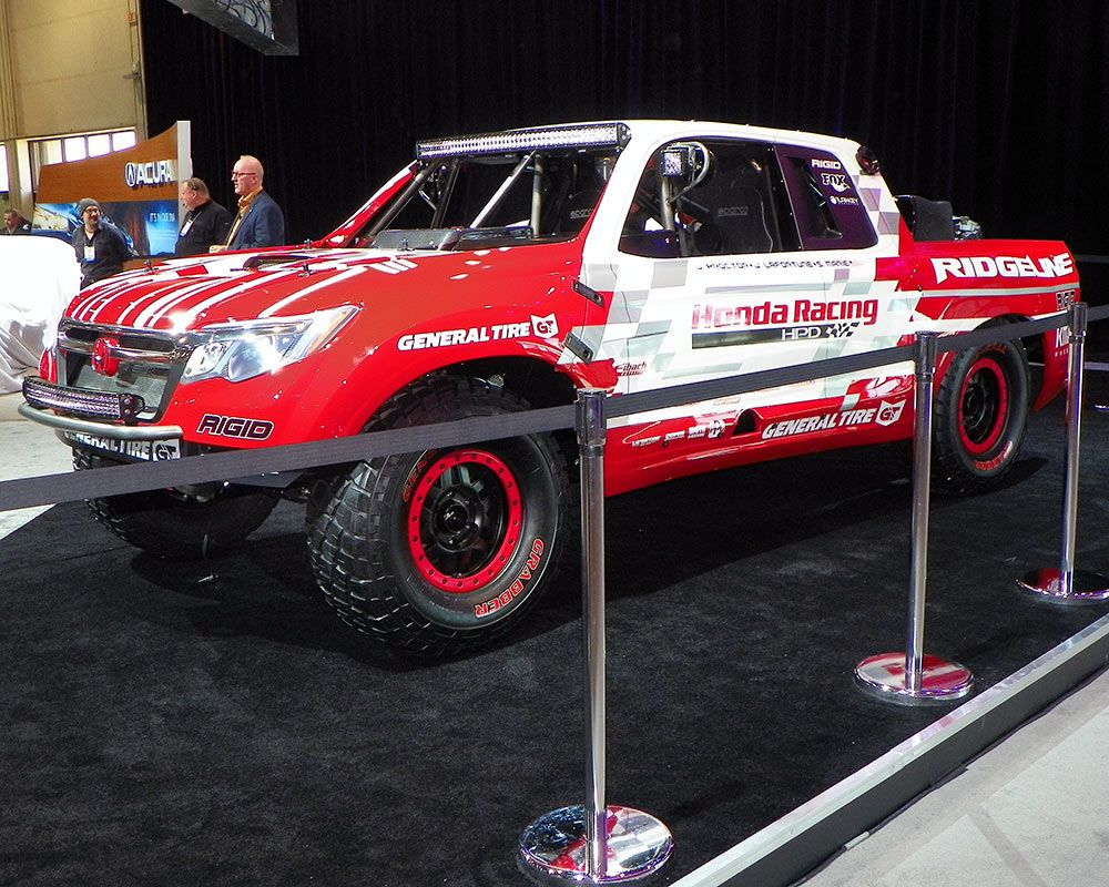 Honda Revealed Its Newest Entry Into 4 Wheel Off Road Desert Racing When It Unveiled The Unlimited Cl 2 Ridgeline Race Vehicle In Booth During