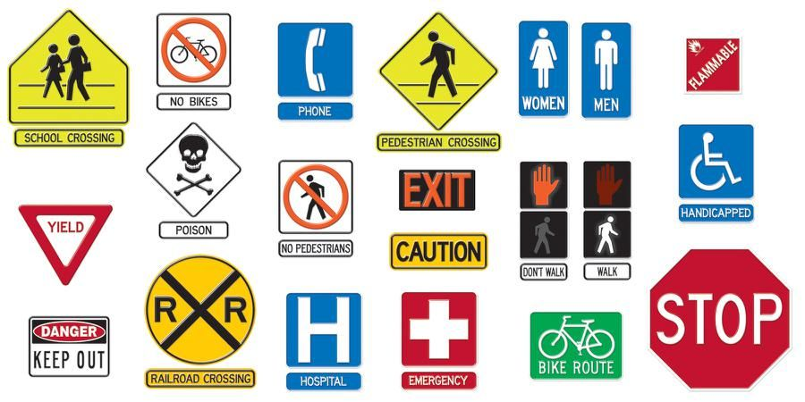 Safety Signs Symbols Bulletin Board Set T 735 Safetyweapons