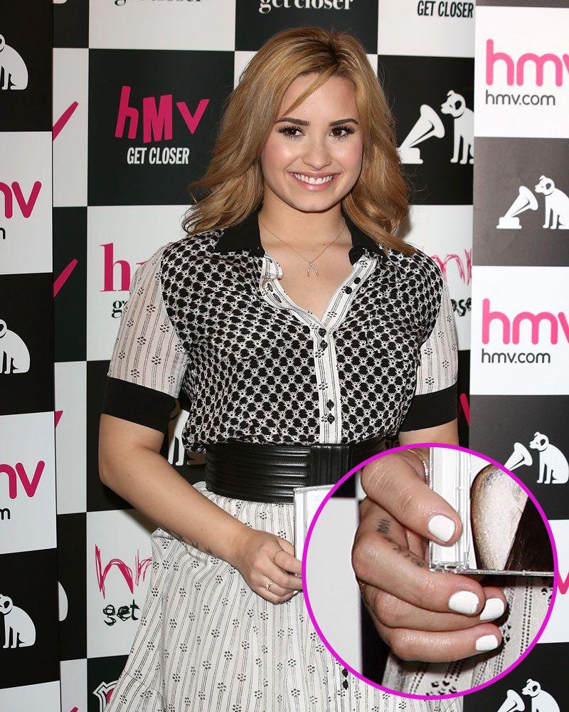 Demi Lovato   nail art   Pinterest