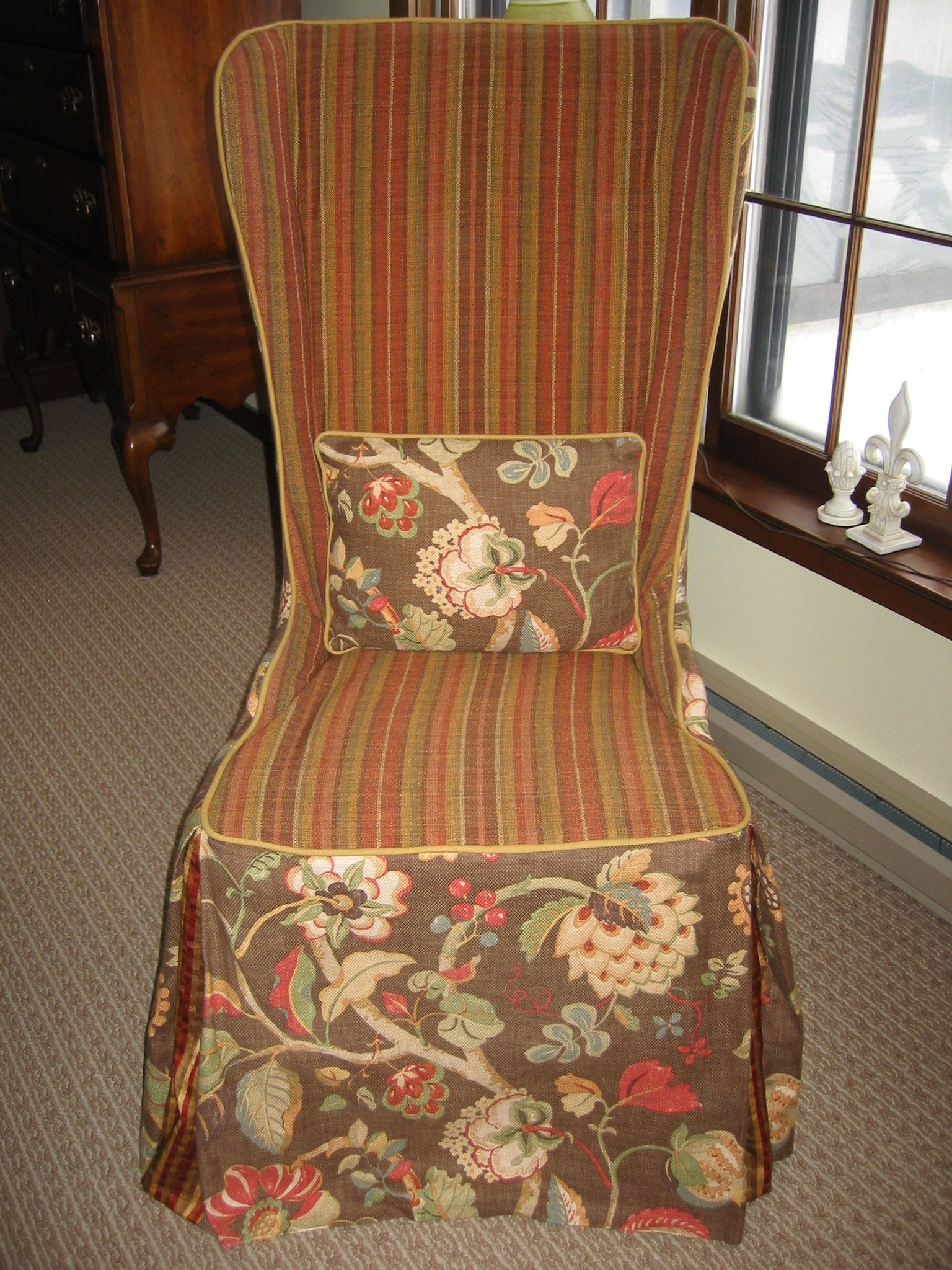 The front of my slipcovered desk chair. I bought this