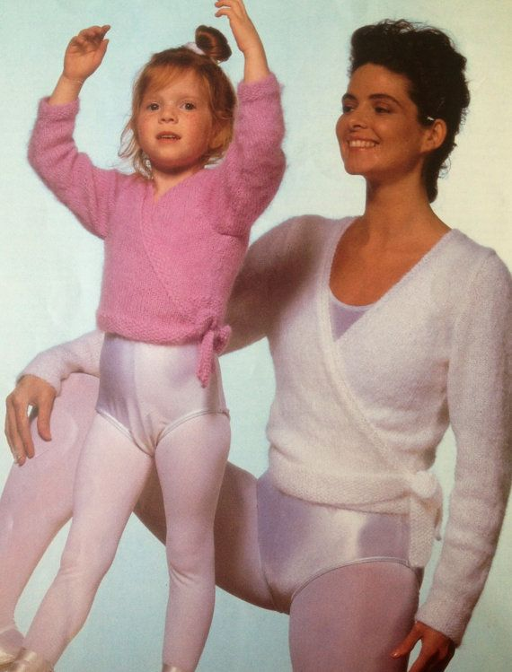 Ballet Top Knitting Pattern Cross Over Cardigan For Girls And Women