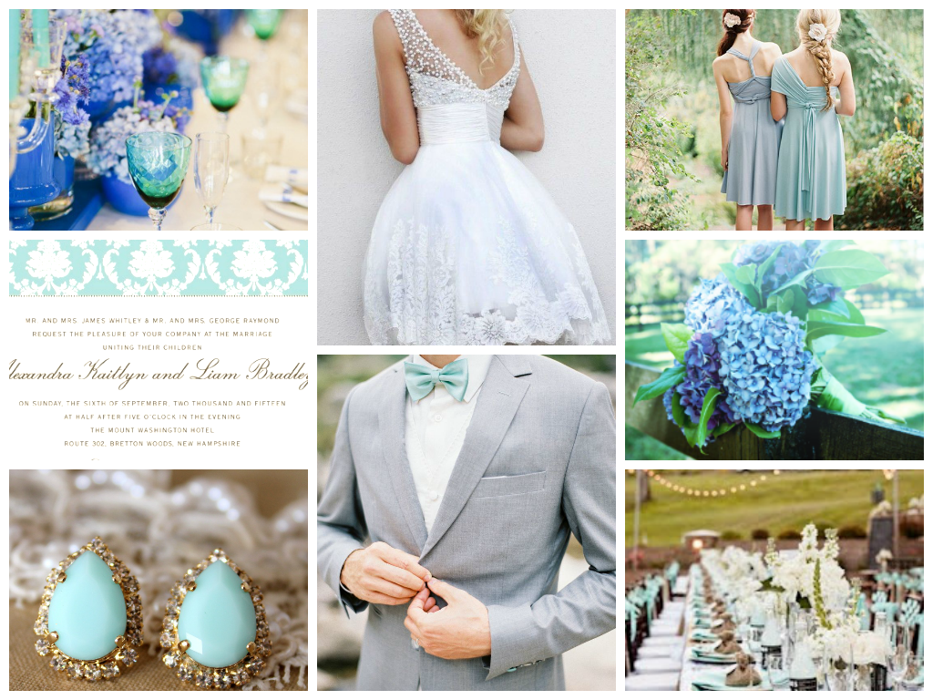 turquoise, navy and mint wedding palette || wedding theme || wedding ...