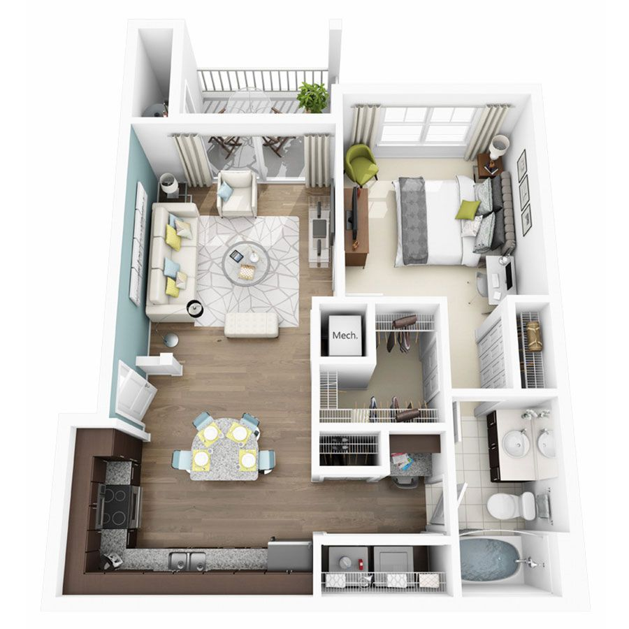 1 2 3 Bedroom Apartments In Austin Tx Altis Lakeline Apartments One Bedroom House Apartment Layout Apartment Floor Plans