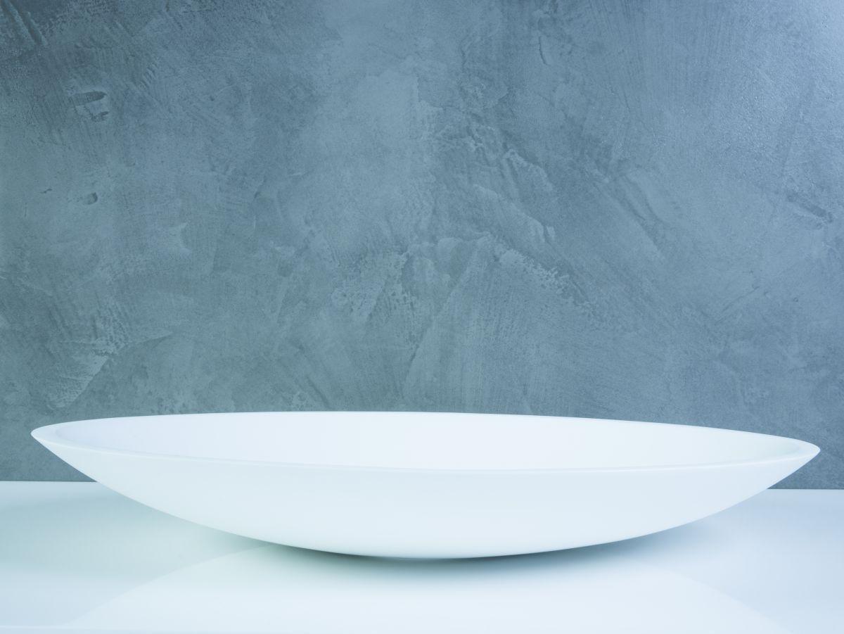 Solid surface waskom ovale mezzi mat wit