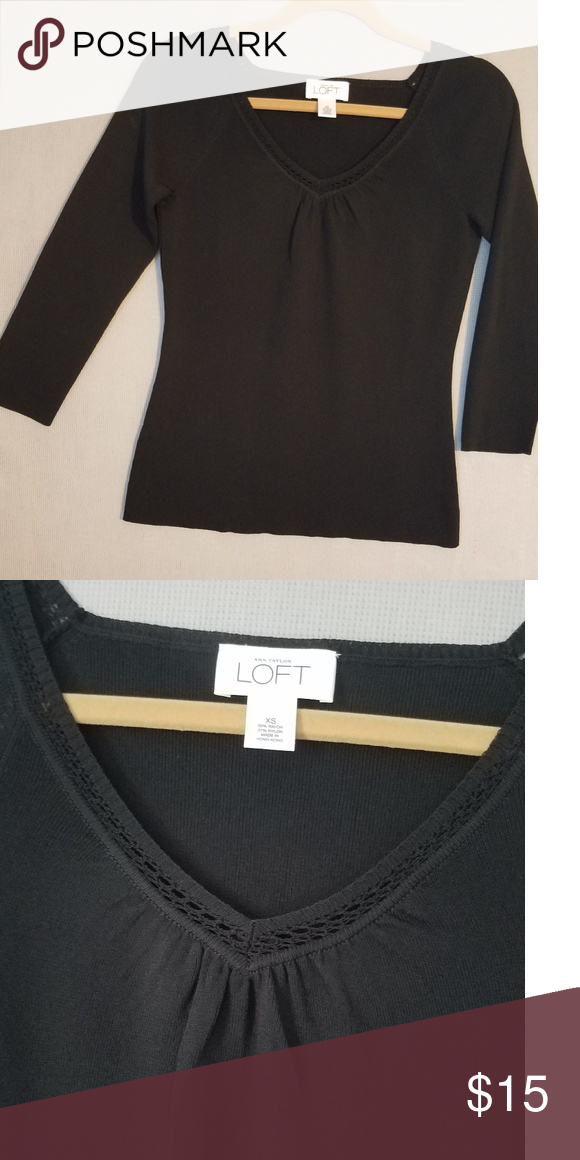 42fff585eda Ann Taylor Loft sweater Dressy black sweater in excellent condition. Ann  Taylor Loft Sweaters V-Necks