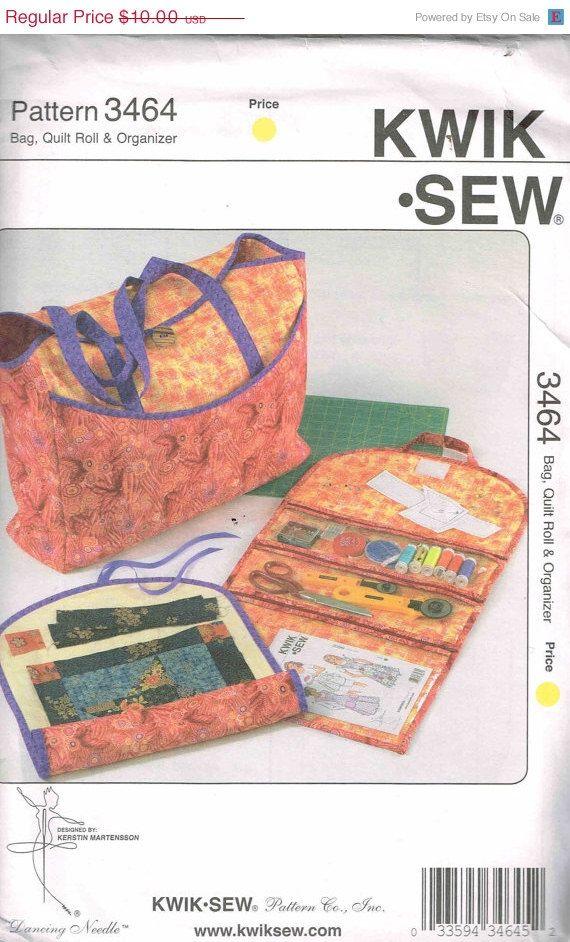 Organizer Zippered Tote Bag, Quilt Roll Kwik Sew 3464 DIY Craft ...