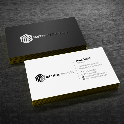 Create A Standout Business Card Design For Method Brands Business Card Contest Winning Design Business Business Card Branding Business Card Design Card Design