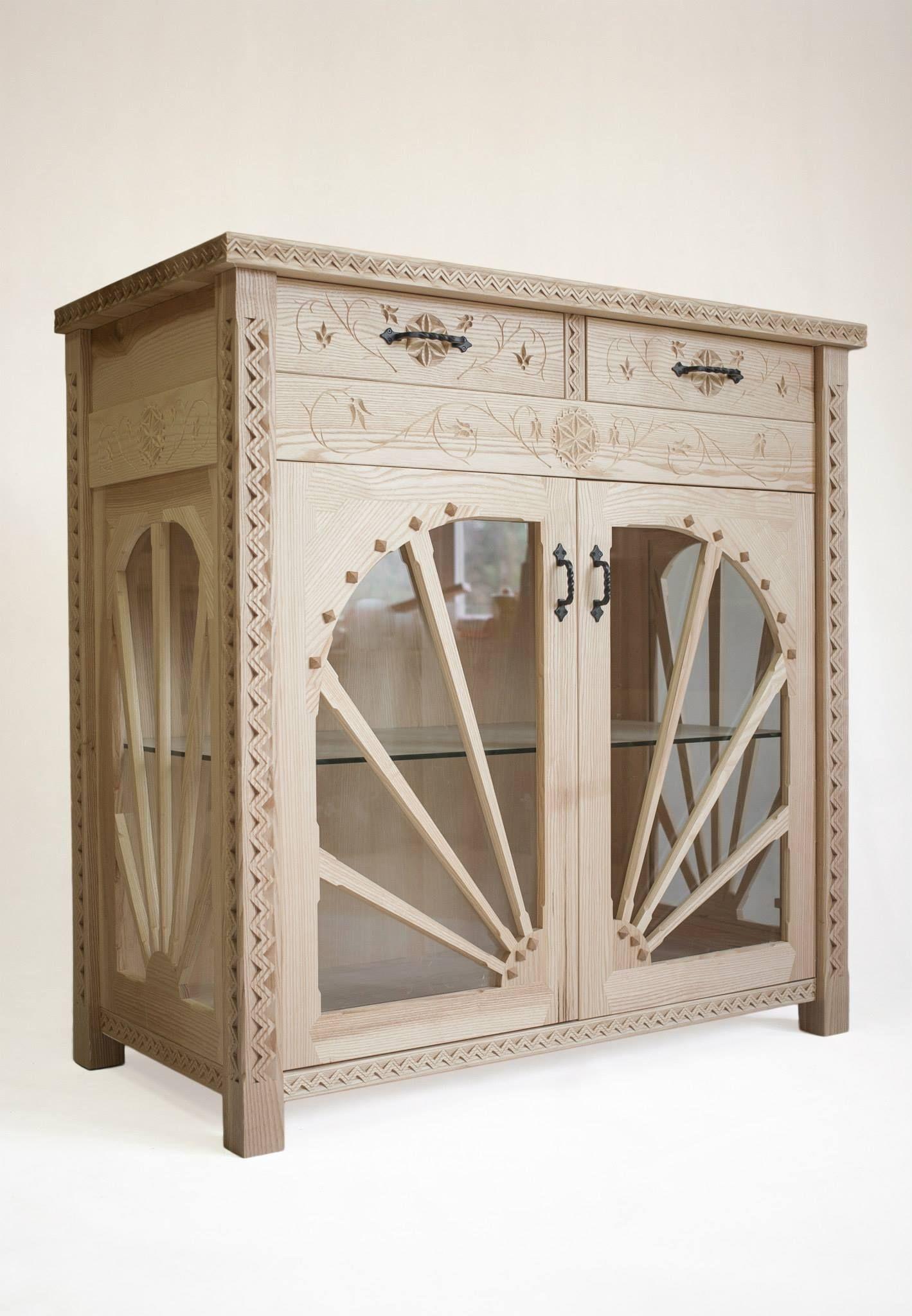 Fesselnde Flurmöbel Sammlung Von Handmade Showcase Vitrine Handarbeit Holz Wohnzimmer Esszimmer