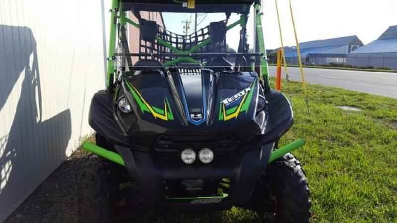 Used 2012 Kawasaki Teryx ATVs For Sale in North Carolina. 2012 Kawasaki Teryx, 4x4 , locking diff, tilt bed , light package, windshield, canvas top, safety net, 808 miles,super clean and ready to go. Hunting and off-road super tool.