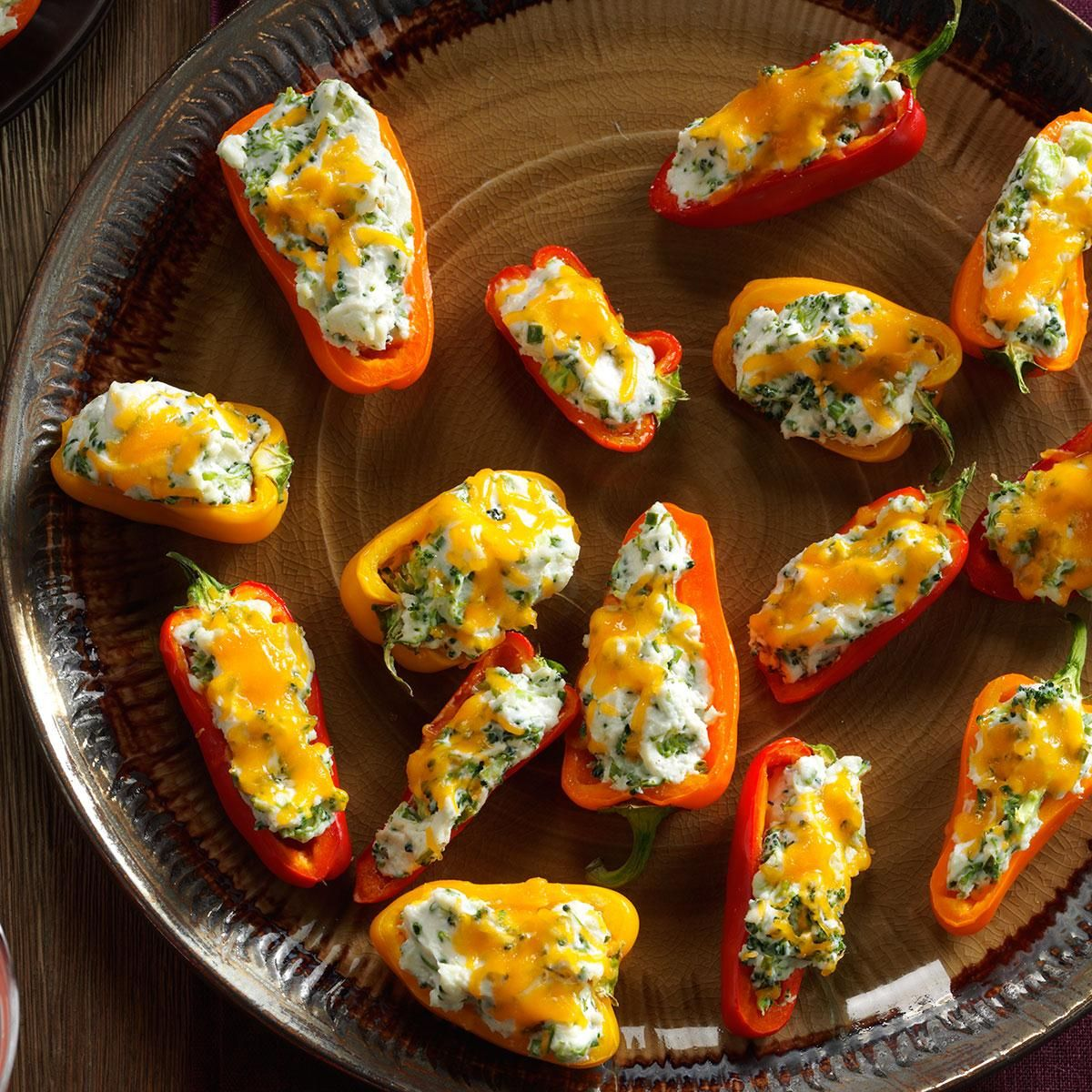 Broccoli Chive Stuffed Mini Peppers Recipe Stuffed Peppers Stuffed Mini Peppers Mini Peppers Recipes