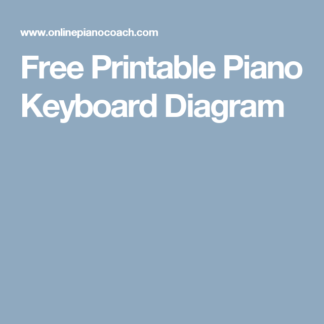 Free Printable Piano Keyboard Diagram Ukulele And Other Music