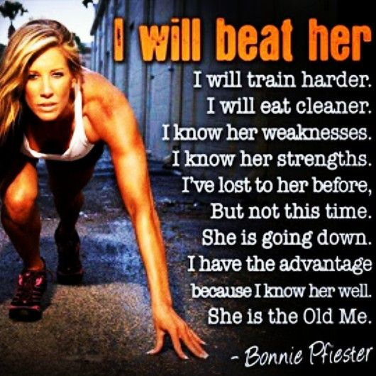 Fitness Motivation Women Abs Compete with Myself, N...
