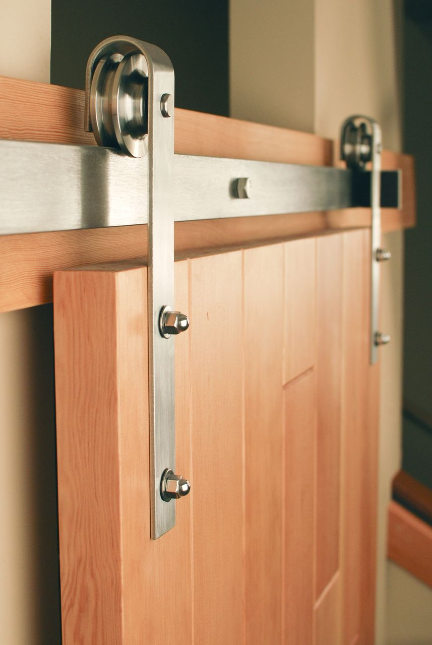 Stainless Classic Flat Track Kit Barn Door Hardware Barn Doors