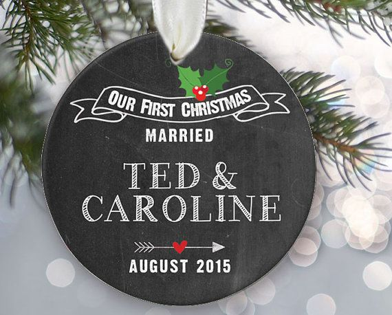 Our First Christmas Married Engaged Together Personalized