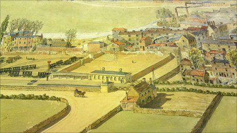 A mid-19th century painting of the view from Delapre Abbey.