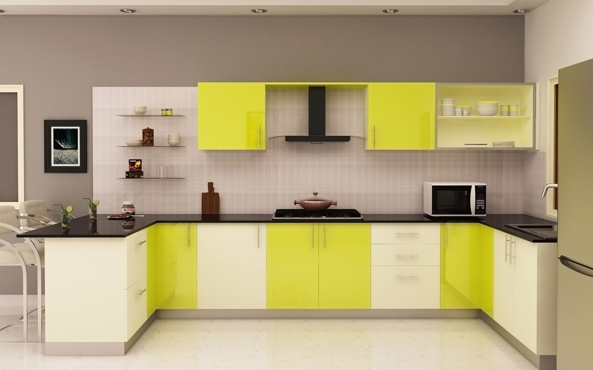 Pin By Id Sowmya Vijaywargi On Kitchen Green Kitchen Cabinets