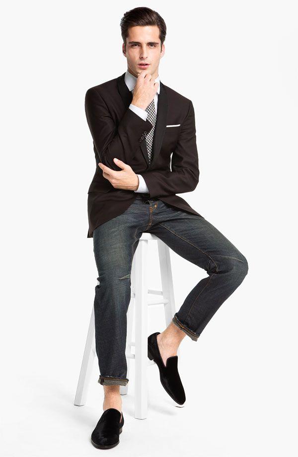 99591dddbe0 Black Tie Optional: BOSS Black 'Hyatt' Shawl Lapel Dinner Jacket #Nordstrom  #Men #Holiday