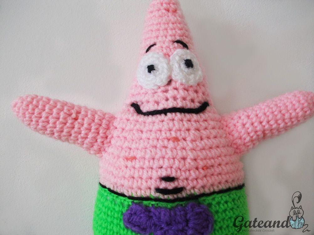 SpongeBob, Patrick Star, Amigurumi, Crochet, Free Pattern | ideat ...