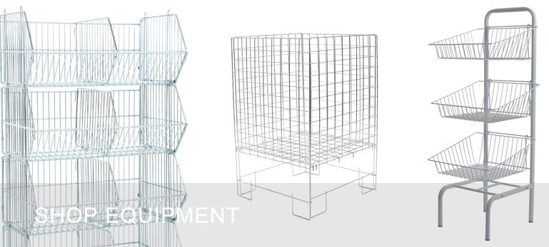 dump bins and wire stacking baskets | Wire Shelving | Pinterest ...