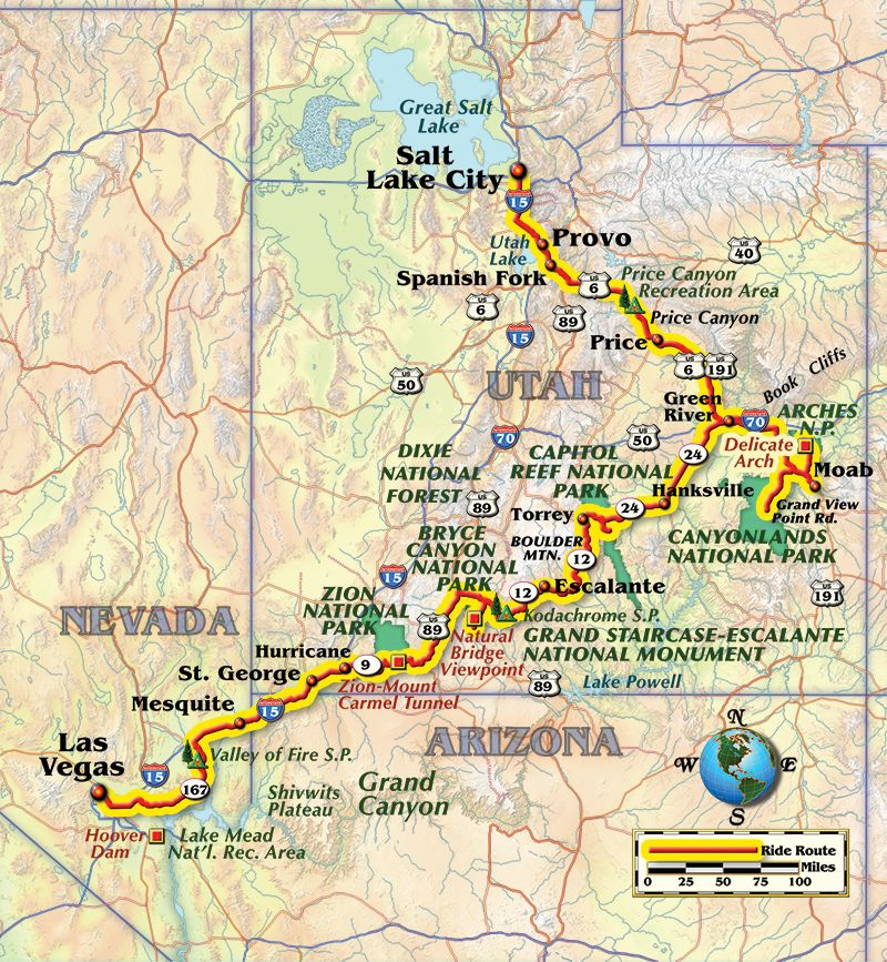 Salt Lake to Sin City Five National Parks and a Highway Through the