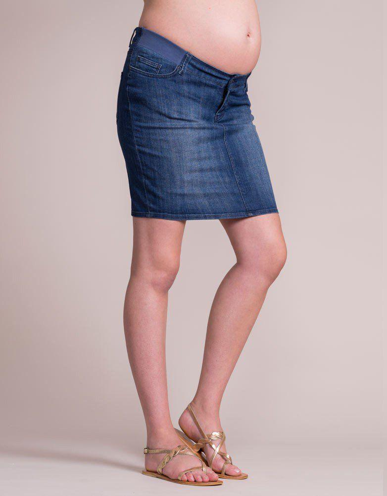91098df780c9a Vintage Wash Denim Maternity Skirt | Maternity Fashion - Curated ...