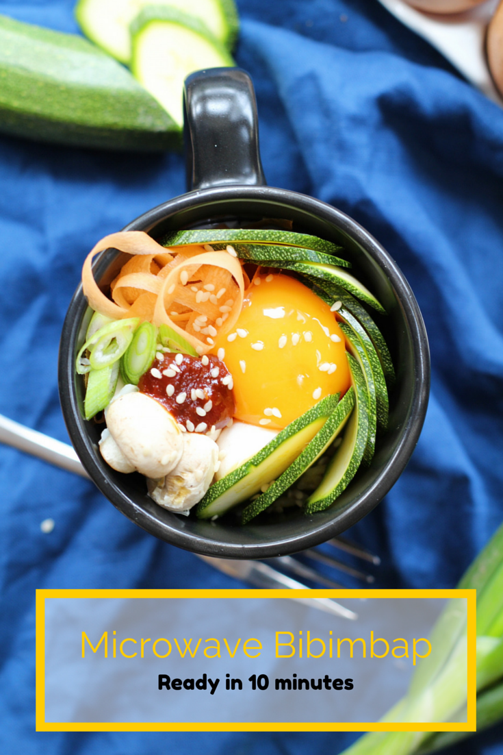 This Microwave Bibimbap Is Ready In 10 Minutes And Ideal For Lunch Time Korean