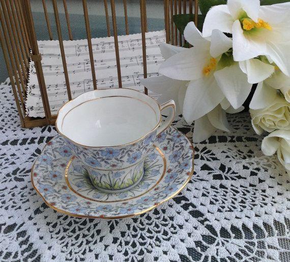 Vintage Floral Rosina Bone China Teacup by Birdcagevintagefinds, $14.95