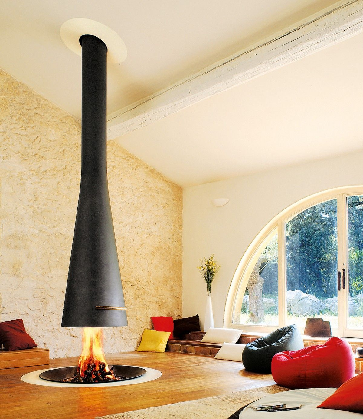 FilioFocus indoor firepit with suspended hood | container house ...