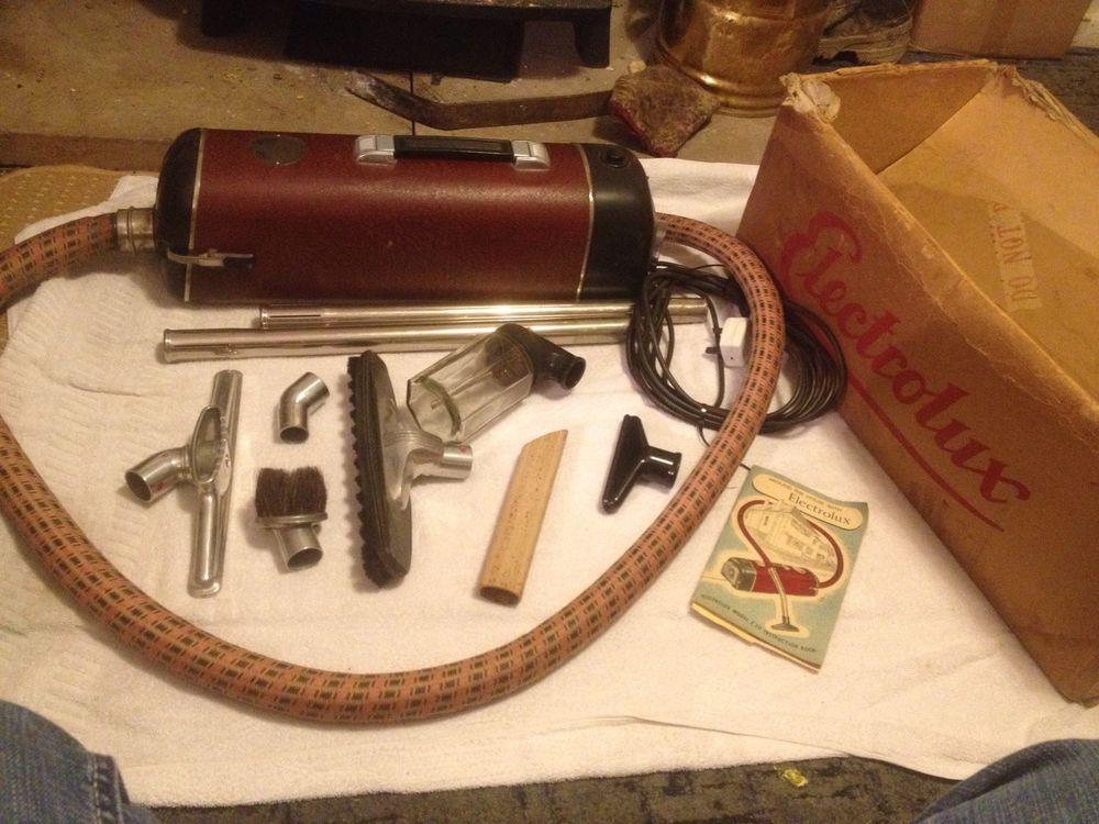 vintage electrolux vacuum cleaner model z30 complete working order original box