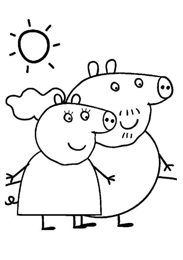 print coloring image Felt quiet books, Clip art and Stenciling - new free coloring pages for peppa pig