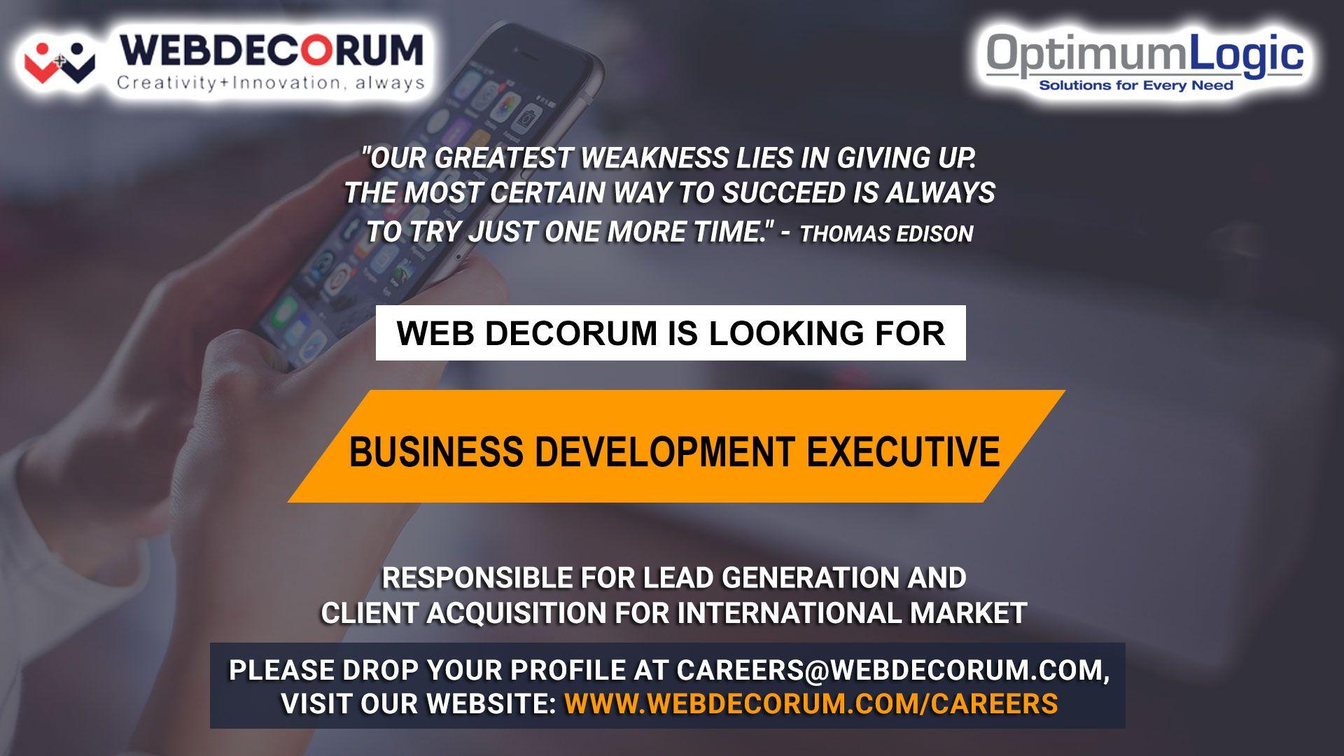 Urgent Requirement Web Decorum India Office Hiring for