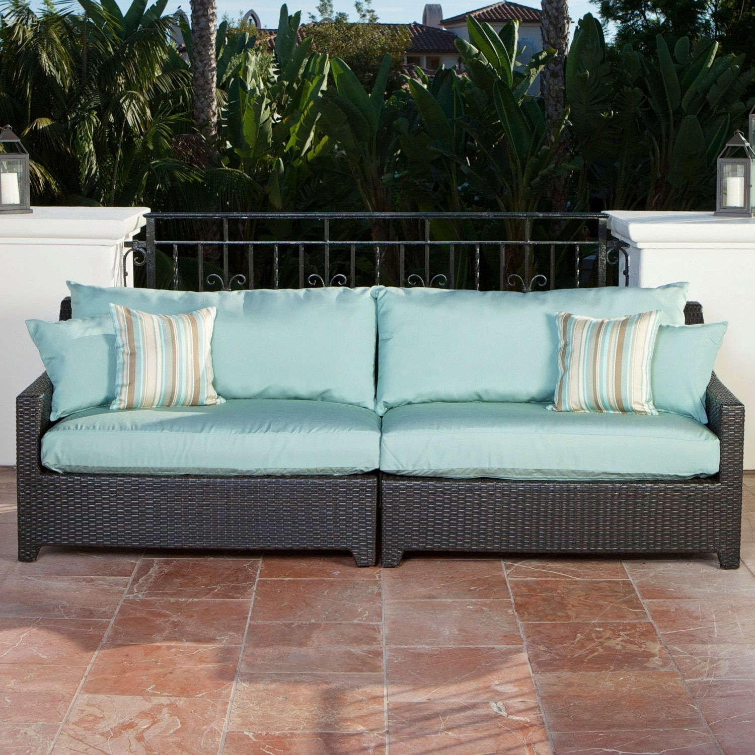 Rst Brands Bliss Patio Sofa Blue