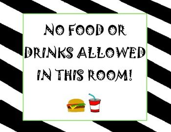 photo regarding No Food or Drink Signs Printable titled No Food stuff or Consume\