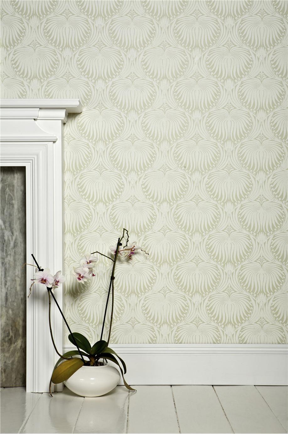 Farrow and ball lotus Lotus wallpaper, Green wallpaper