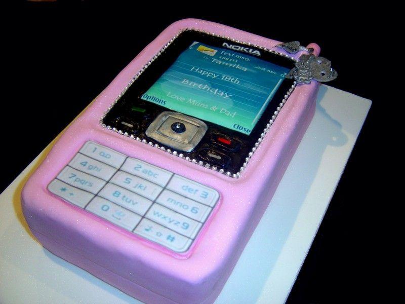 Bling Birthday Cakes Pink Bling Mobile Phone Birthday Cakes