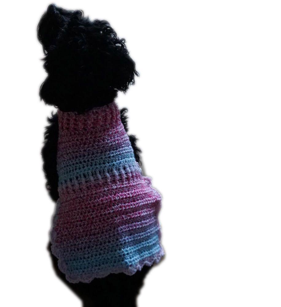 Hundesweater Regenbogen Hundemantel Mantel Hund | Gehäkelte Hunde ...