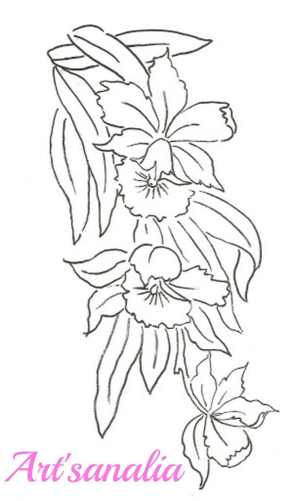 Art\'sanália: Riscos de flores … | Pinteres…