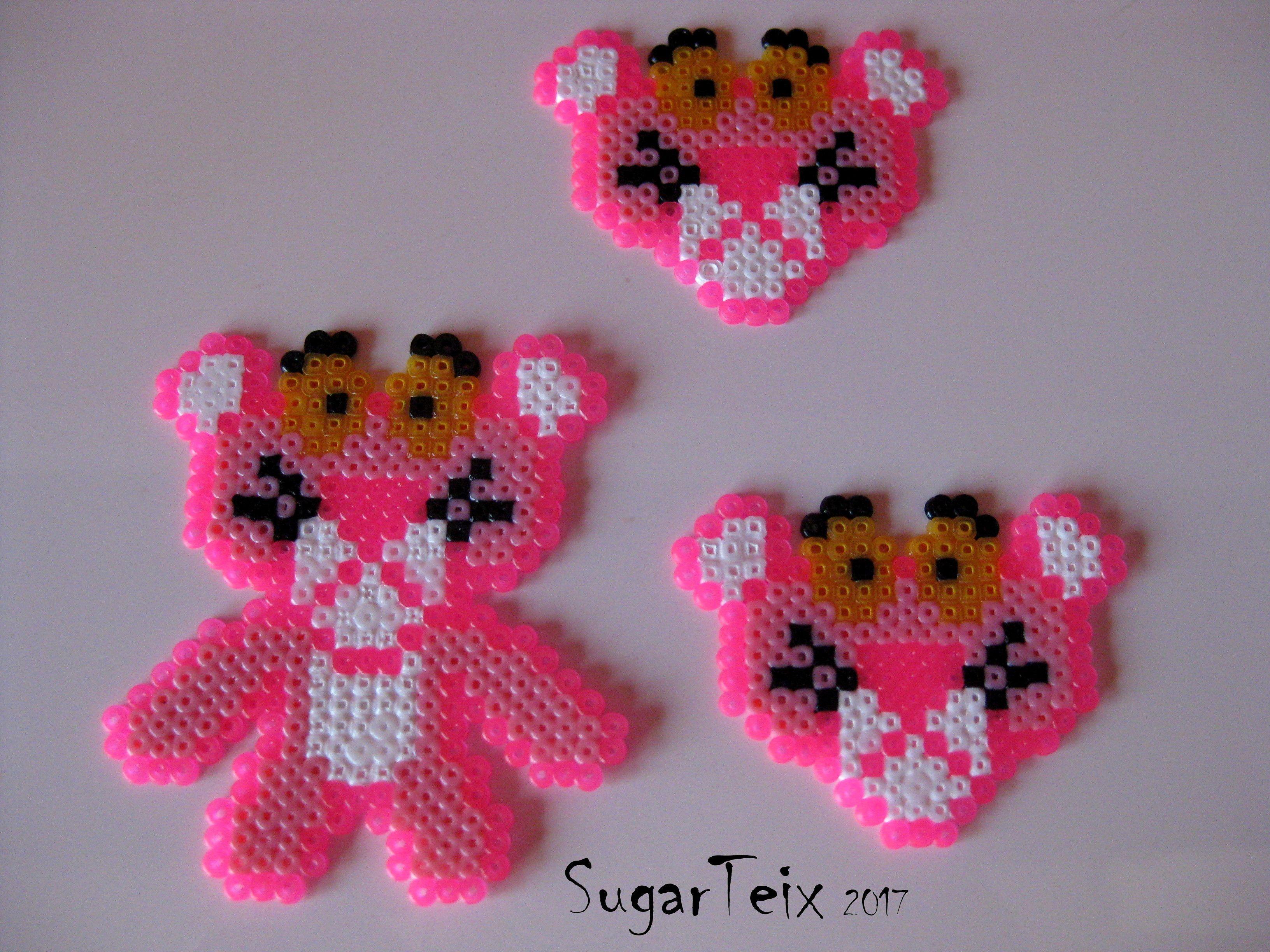 #panterarosa #pinkpanter #hama #hamabeads #pyssla