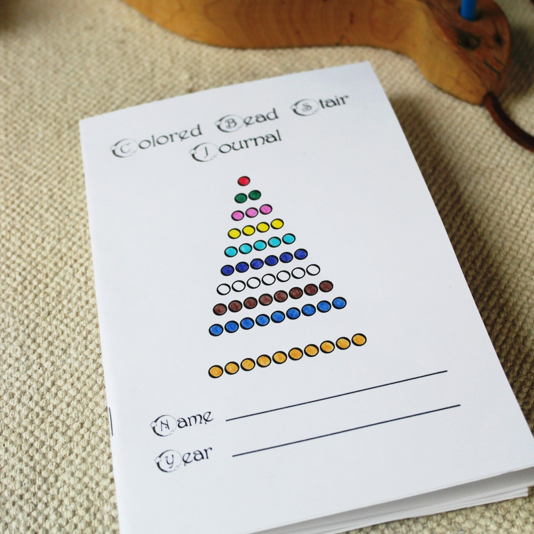 Colored Bead Stair Journal