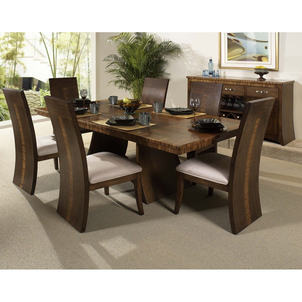 magnificent-furniture-modern-dining-set-design-with-the-  sc 1 st  Pinterest : wooden dining table set designs - pezcame.com