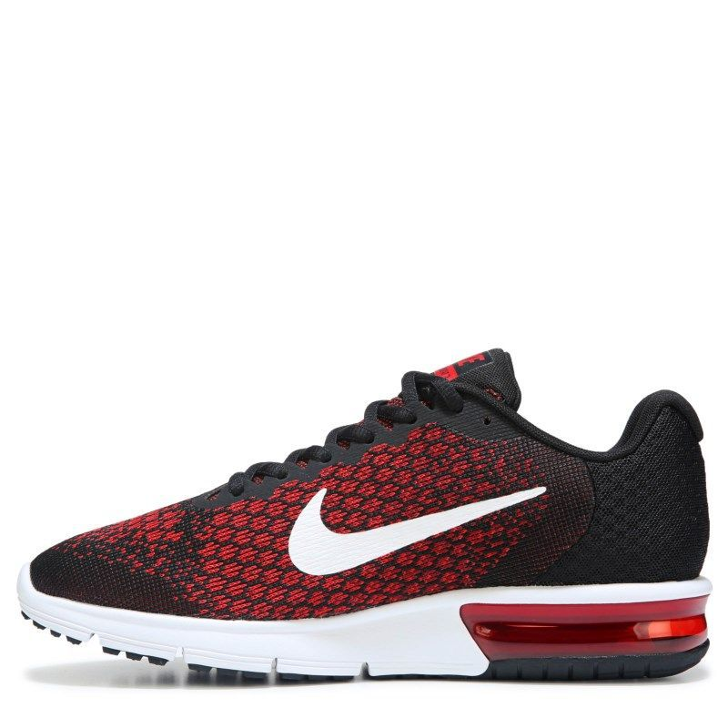 7fa5f057ce9 Nike Men s Air Max Sequent 2 Running Shoes (Black White Red)