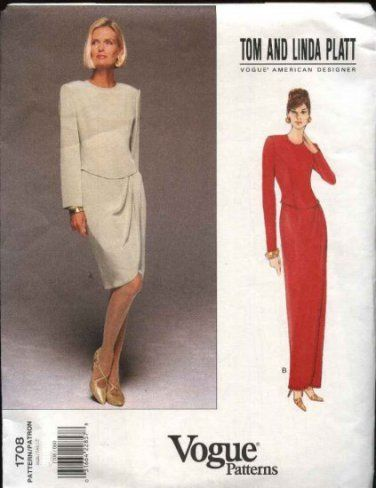 Vogue Sewing Pattern 1708 Misses Size 18-22 Easy Formal Dress ...