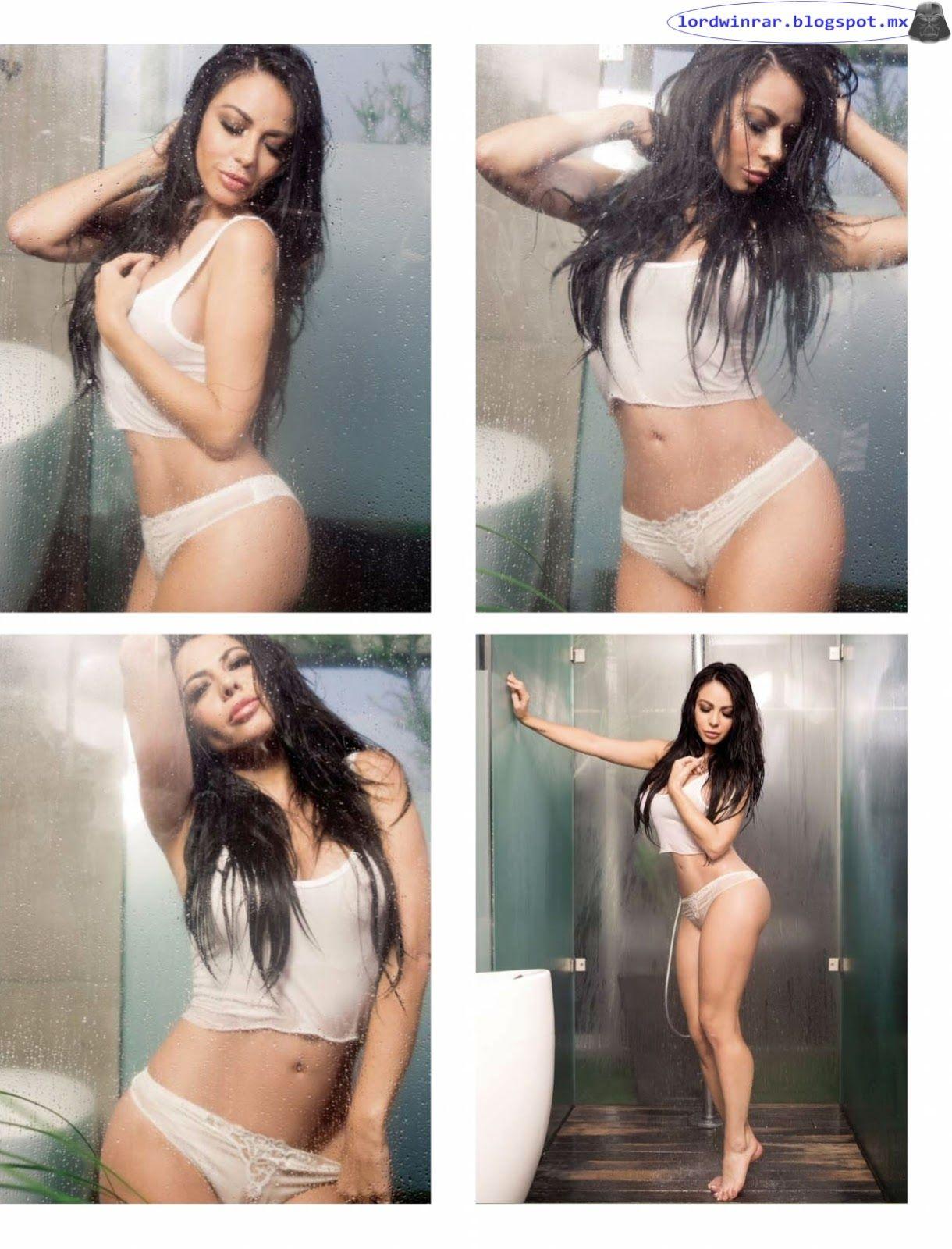 Jimena Sanchez Semi Desnuda En La Revista H Para Hombres 2016 Enero