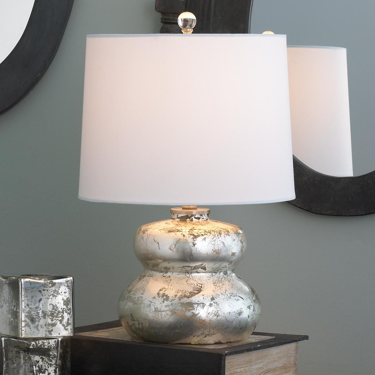 product modern linen arn com lamps leaf l mini comfort shade burnished in with aerin visual lamp foundrylighting table silver warren