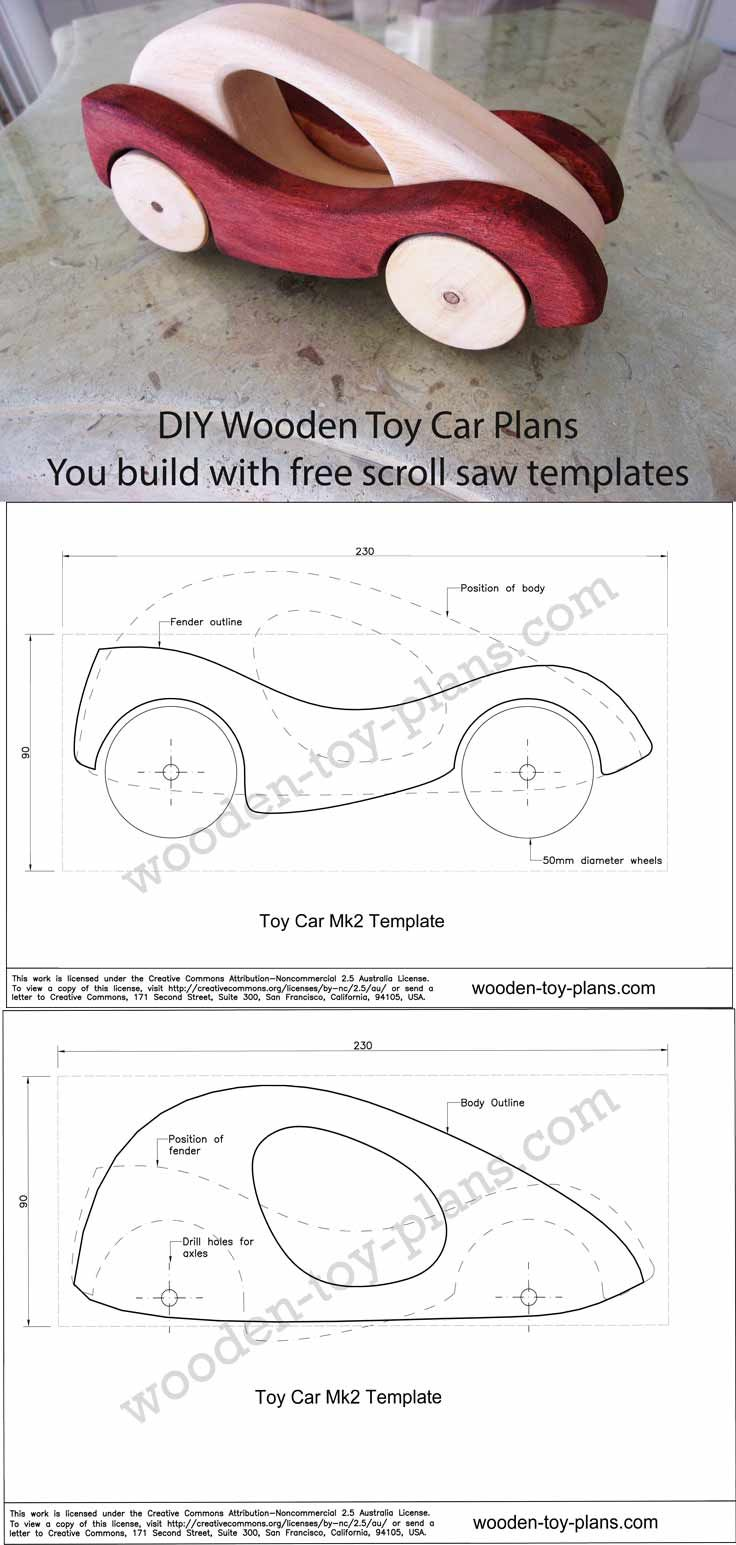 wooden car designs full size template you can download and