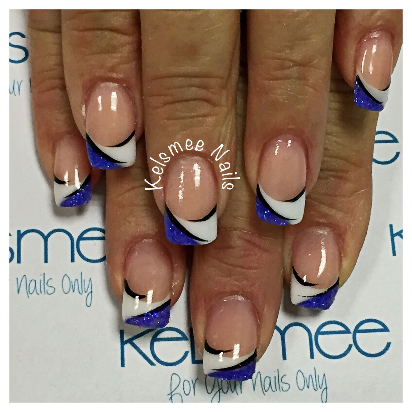 Youngnails acrylic French manicure with a twist   Nail Art & Designs ...
