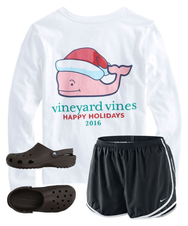 """""""love falling asleep & waking up next to you(:"""" by arieannahicks on Polyvore featuring Vineyard Vines, Crocs and NIKE"""